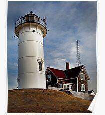 Woods Hole Point Light, Falmouth, Massachusetts, USA Poster