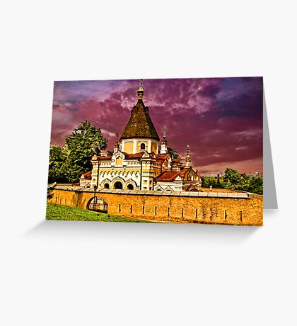 Church, part of Kievo-Pecherskoj of Monastery Greeting Card
