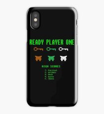 Ready Player One 8-Bit Game High Five iPhone Case/Skin