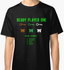 Ready Player One 8-Bit Game High Five Classic T-Shirt