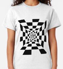 Chessboard corridor, black Classic T-Shirt