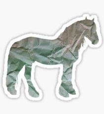 paper horse Sticker