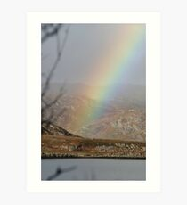 Rainbow over the loche on Skye Art Print