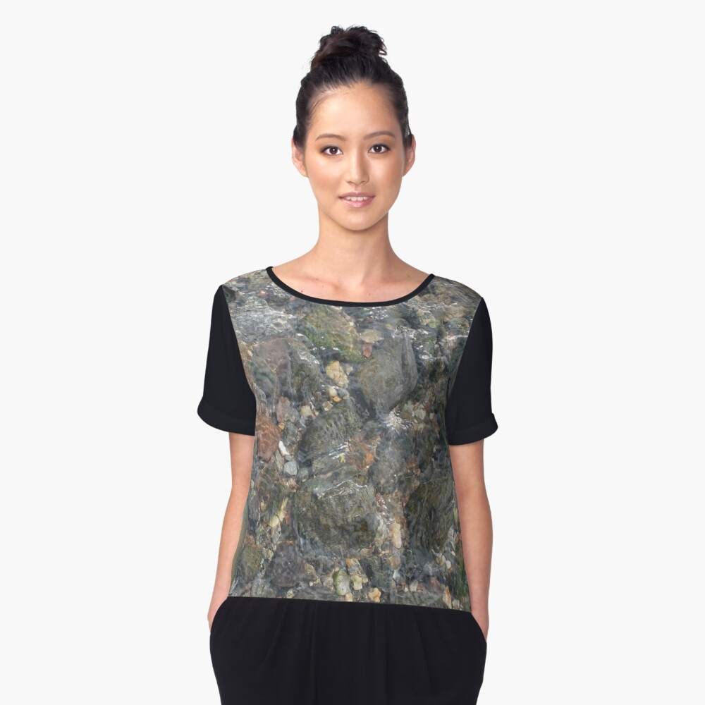#geology #stone #nature #water #rough #outdoors #abstract #pattern #vertical #rockobject #textured #nopeople #planetearth #colors #day Women's Chiffon Top Front