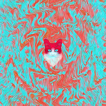 Abstract cat by blackhalt