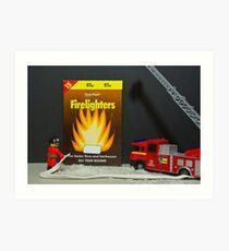 Lego fireman to the rescue Art Print