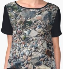 #rubble #pebble #scrap #stone #garbage #gravel #many #dust #litter #environment #pollution #broken #vertical #rockobject #stack #heap #textile #abundance #destruction Chiffon Top