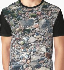 #rubble #pebble #scrap #stone #garbage #gravel #many #dust #litter #environment #pollution #broken #vertical #rockobject #stack #heap #textile #abundance #destruction Graphic T-Shirt