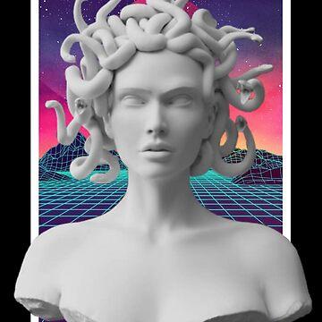 Aesthetic Vaporwave Statue - Medusa v2 by MisterNightmare