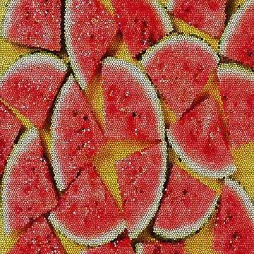 Watermelon Glass Pattern Yellow Summer by FrancisDigital
