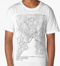 New Haven map poster print wall art, Connecticut gift printable, Home and Nursery, Modern map decor for office, Map Art, Map Gifts Long T-Shirt
