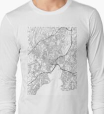 New Haven map poster print wall art, Connecticut gift printable, Home and Nursery, Modern map decor for office, Map Art, Map Gifts Long Sleeve T-Shirt
