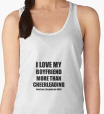 Cheerleading Girlfriend Funny Valentine Gift Idea For My Gf Lover From Boyfriend Women's Tank Top