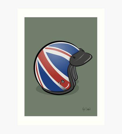 Retro Mod Crash Helmet - union Jack Art Print