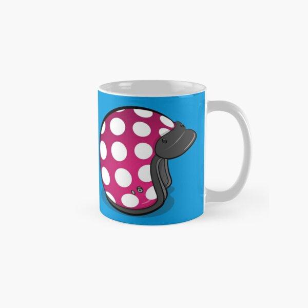 Retro Mod Crash Helmet - Polka Dot Classic Mug
