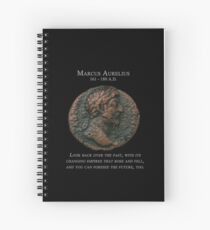 Ancient Roman Coin - MARCUS AURELIUS - Meditations Spiral Notebook