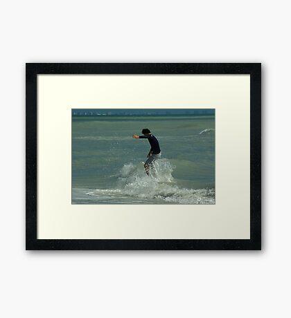 Skimboard Splash Framed Print