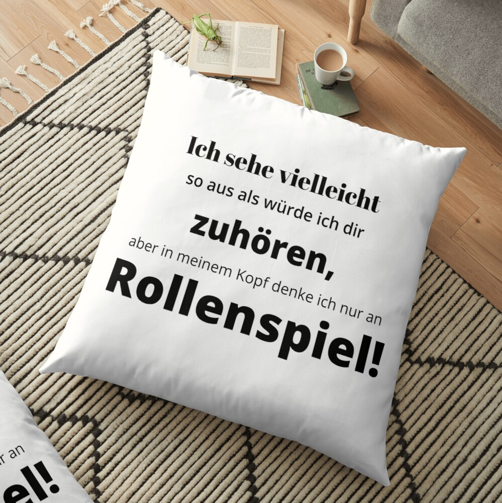 I see - roleplay Floor Pillow