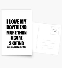 Figure Skating Girlfriend Funny Valentine Gift Idea For My Gf Lover From Boyfriend Postkarten