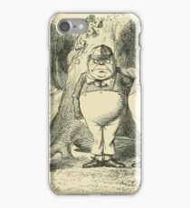 Through the Looking Glass Lewis Carroll art John Tenniel 1872 0087 Tweedledum and Tweedledee iPhone Case/Skin