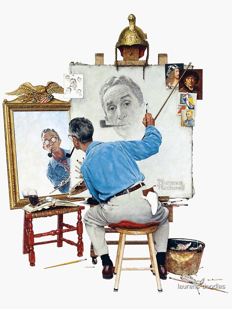 "Rockwells ""Triple Self Portrait"" von laurens-doodles"