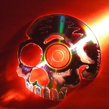 CD skull by EDLFDESIGNS