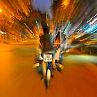 Cyclo Ride - Streets of Hanoi  by Julian Fulton-Boote