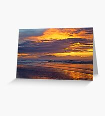 Surfing the Fiery Sky Greeting Card