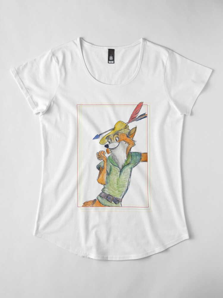 Alternative Ansicht von Comic Robin Hood Premium Rundhals-Shirt