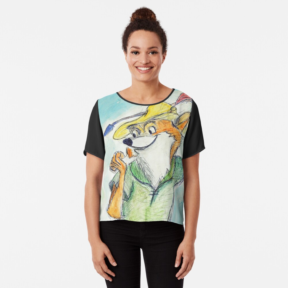Comic Robin Hood Chiffon Top