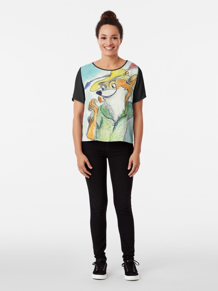 Alternative Ansicht von Comic Robin Hood Chiffon Top