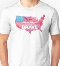 Land of the Free because of the Brave Watercolor Unisex T-Shirt