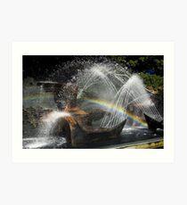 Captain Cook Fountain Art Print