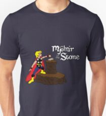 Mjolnir in the Stone (Comic Version) T-Shirt
