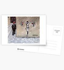 Frohe Weihnachten von Banksy Postkarten