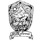 Run Forever Sun and Moon, Day and Night Emblem by bangart