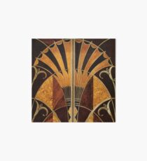 Art nouveau, art deco, vintage,elegant,chic,pattern,gold,wood,black,bronze,silver,beige Art Board