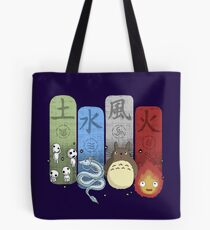 Ghibli Elemental Charms Tote Bag