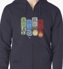 Ghibli Elemental Charms Zipped Hoodie