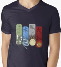 Ghibli Elemental Charms Men's V-Neck T-Shirt