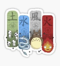 Ghibli Elemental Charms Sticker