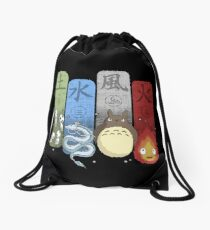 Ghibli Elemental Charms Drawstring Bag