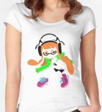 Splatoon Inkling Color Art Women's Fitted Scoop T-Shirt