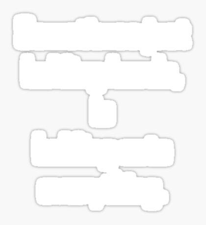 holding hands (white) Sticker