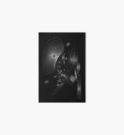 Polygonal Rings Universe Art Board Print