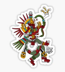 #Quetzalcoatl #featheredserpent #worship #Feathered Serpent Teotihuacan century Mesoamerican chronology veneration figure Mesoamerica Mexican religious center Cholula Maya area Kukulkan Sticker