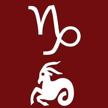 Capricorn zodiac motif by Myriala