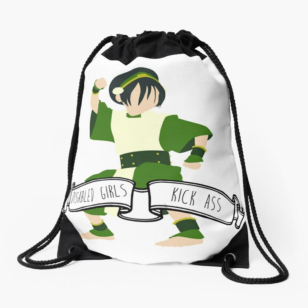 Toph - Disabled Girls Kick Ass Drawstring Bag