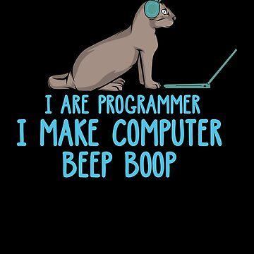 I Are Programmer I Cat IT Computer Developer Software by phskulmshirt