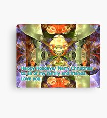 wishing you happy holidays/merry Christmas to everyone Canvas Print